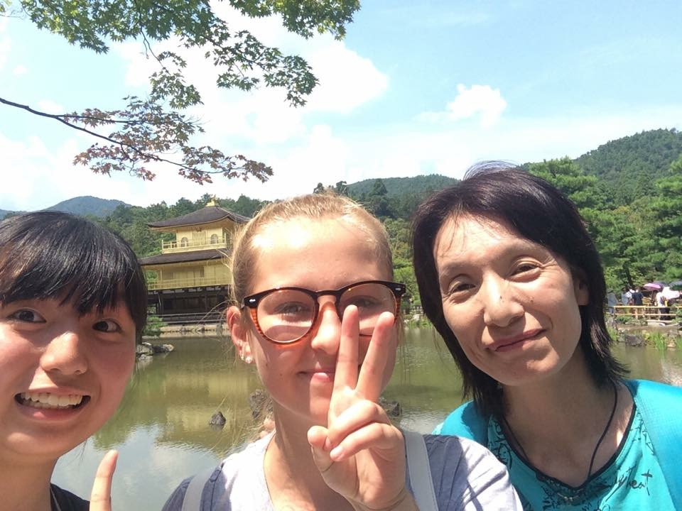 2015 Student, Claire, on an adventure with her Host Family in Kyoto.