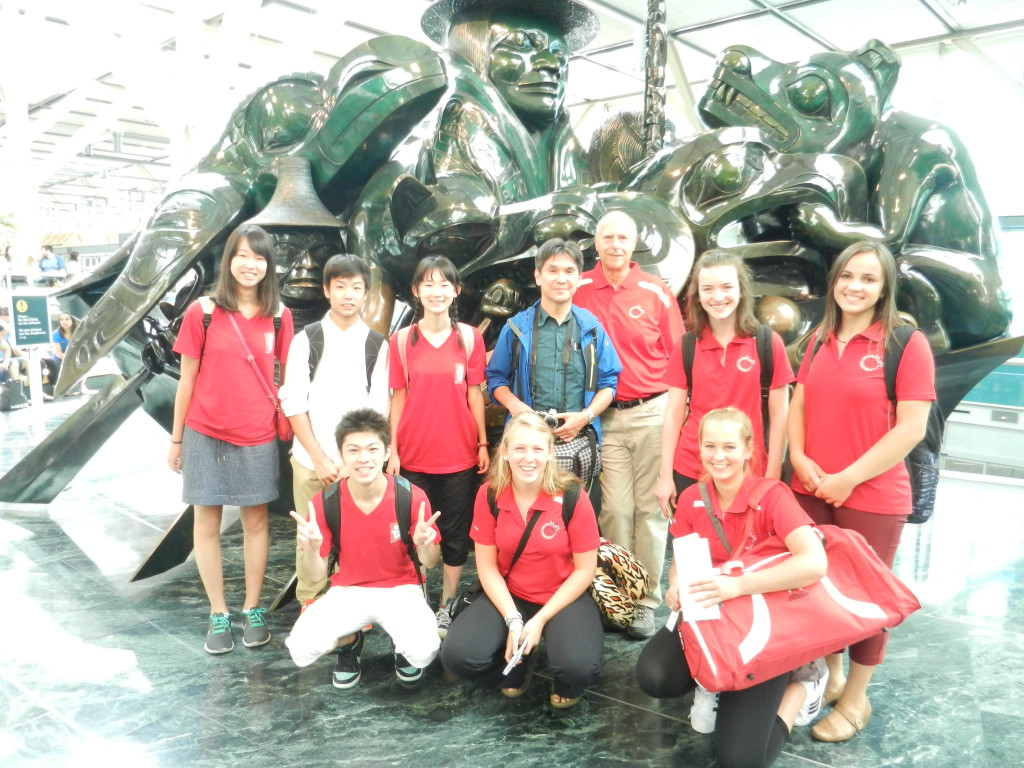 Our 2015 Students met up in front of the famous Jade Artwork at the Vancouver International Airport when they arrived and departed the country on the same day!